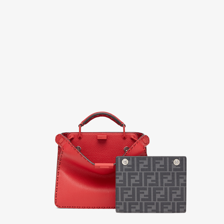 FENDI PEEKABOO ISEEU MINI - Red leather bag - view 2 detail