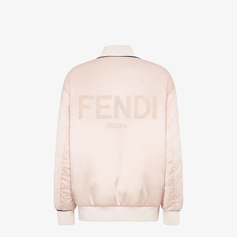 FENDI JACKET - Pink silk bomber jacket - view 2 detail