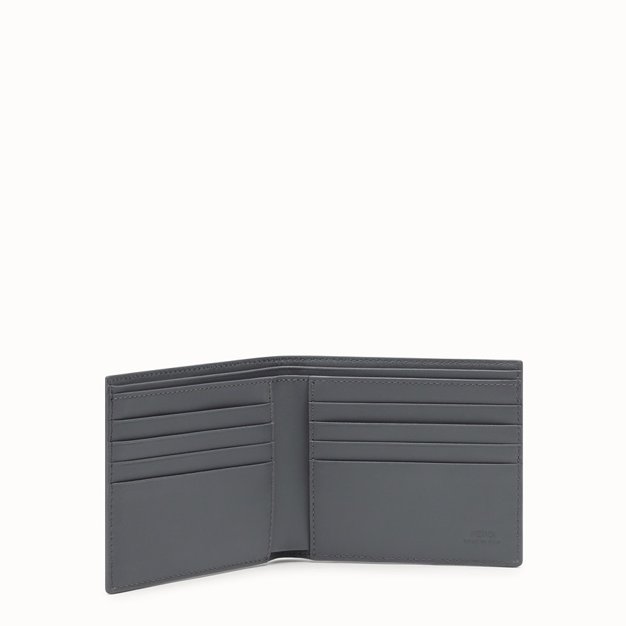 FENDI BI-FOLD WALLET - Gray leather bi-fold wallet - view 3 detail