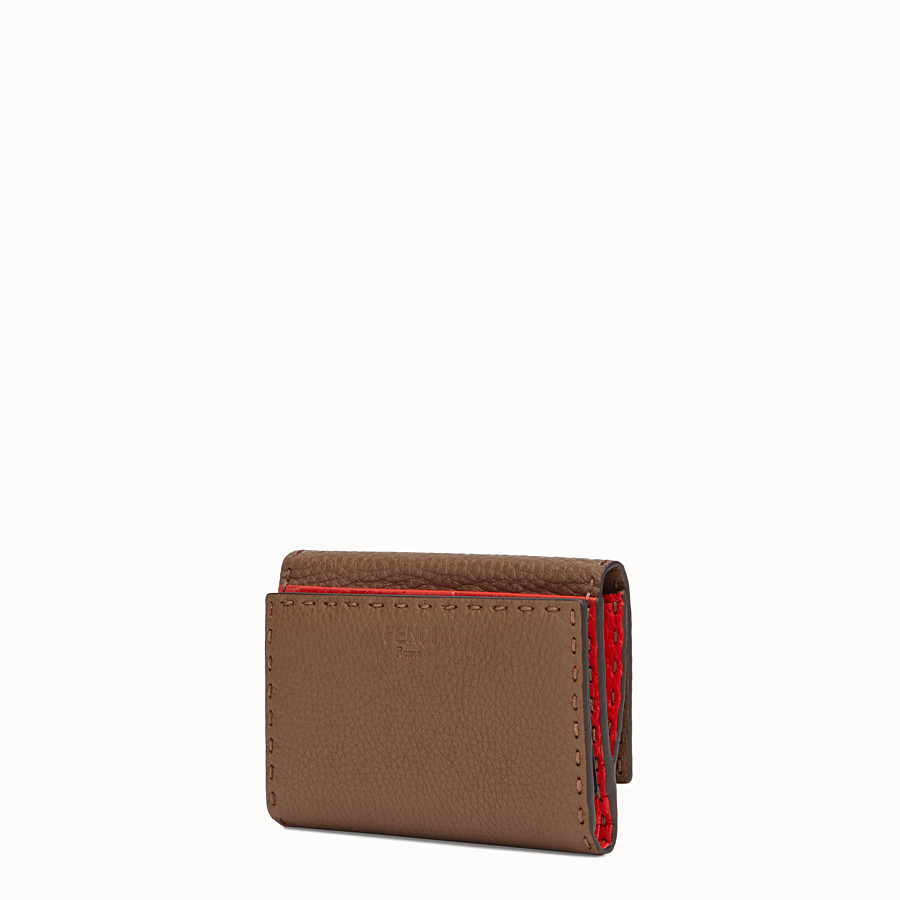 FENDI CONTINENTAL MEDIUM - Brown leather wallet - view 2 detail