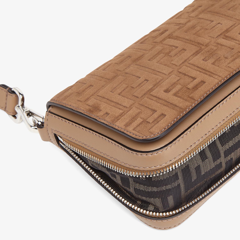 FENDI FLAP BAG - Beige leather bag - view 6 detail