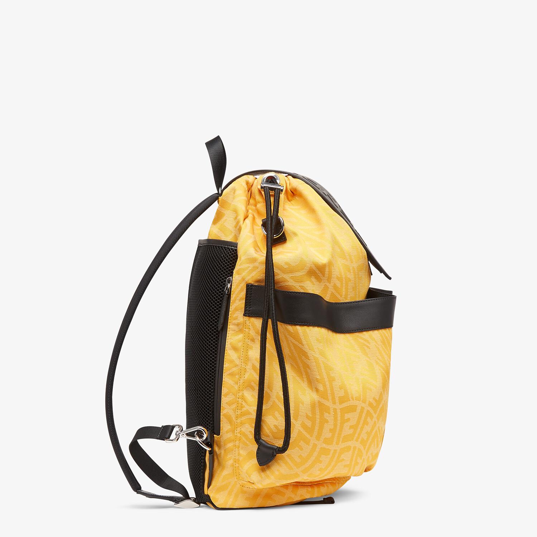 FENDI DRAWSTRING BACKPACK - Yellow FF Vertigo fabric backpack - view 2 detail