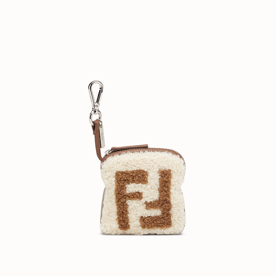 FENDI TOAST BAG CHARM - Multicolour sheepskin charm - view 1 detail