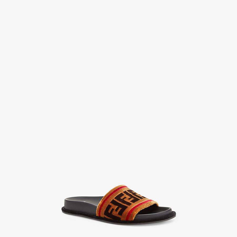 FENDI SANDALES - Sandales en tissu multicolore - view 2 detail