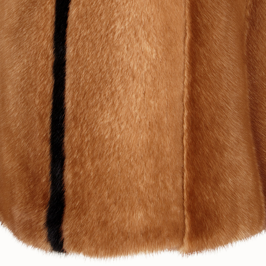 FENDI SKIRT - Brown fur skirt - view 3 detail