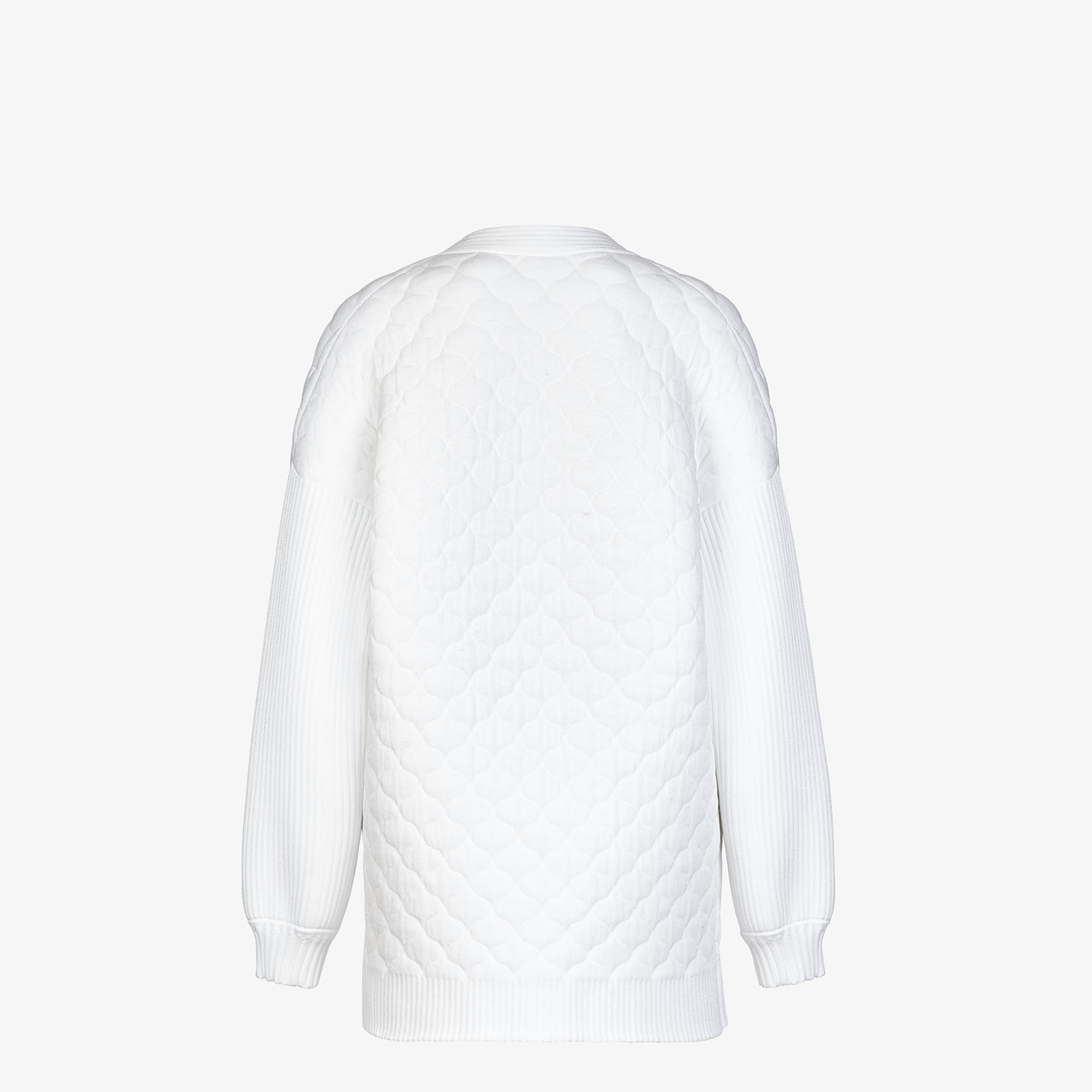 FENDI CARDIGAN - White viscose cardigan - view 2 detail