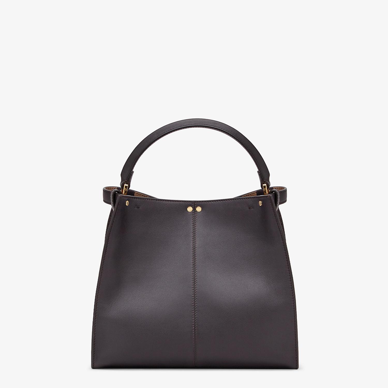 FENDI PEEKABOO X-LITE MEDIUM - Brown leather bag - view 5 detail