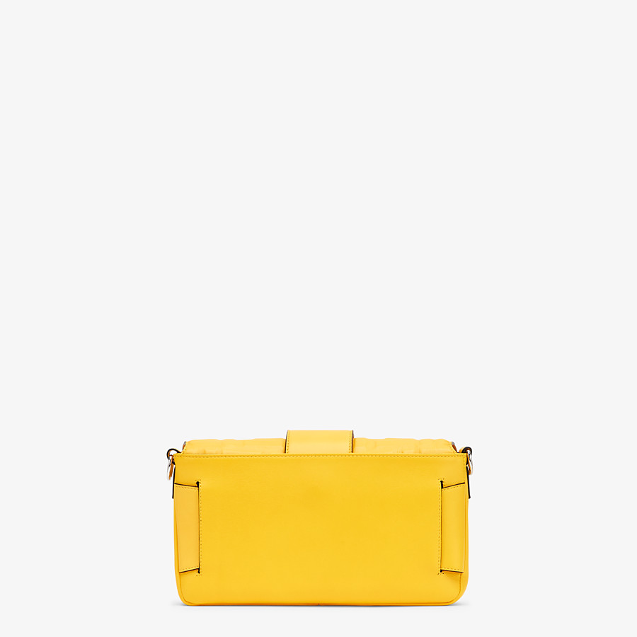 FENDI BAGUETTE - Yellow nappa leather bag - view 4 detail