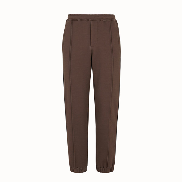 FENDI PANTALON - Pantalon en coton marron - view 1 small thumbnail