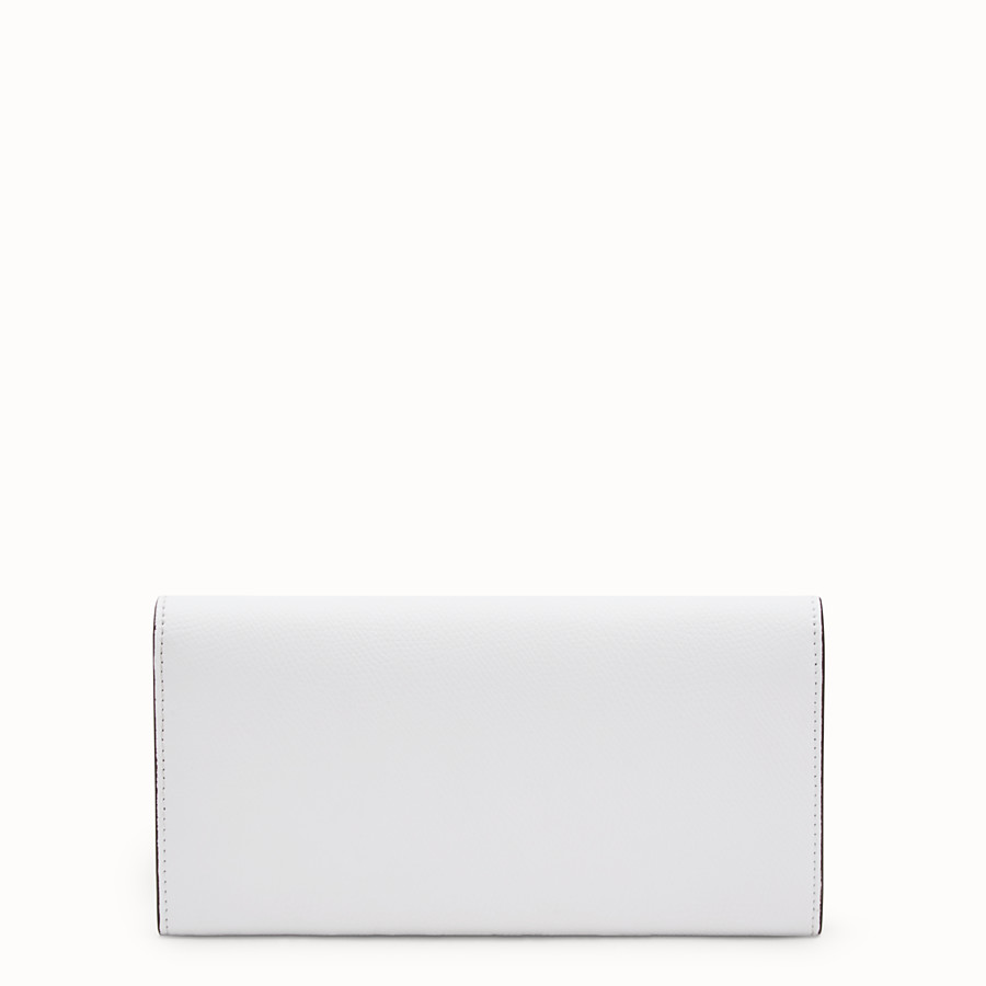 FENDI CONTINENTAL WITH CHAIN - White leather wallet - view 3 detail