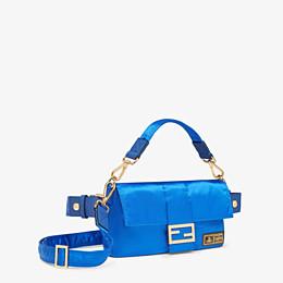 FENDI BAGUETTE FENDI AND PORTER - Tasche aus Nylon in Blau - view 2 thumbnail