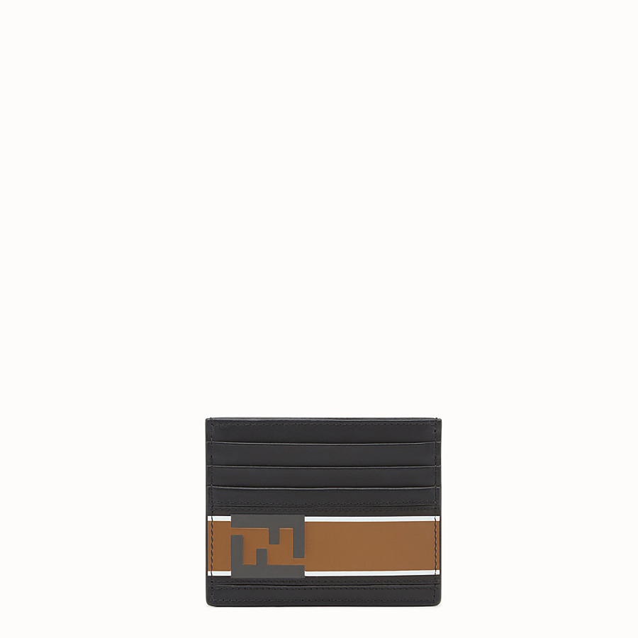 FENDI CARD HOLDER - 黑色皮革卡片套 - view 1 detail