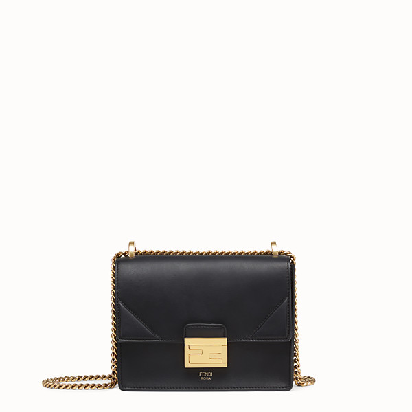 FENDI KAN U SMALL - Black leather mini-bag - view 1 small thumbnail