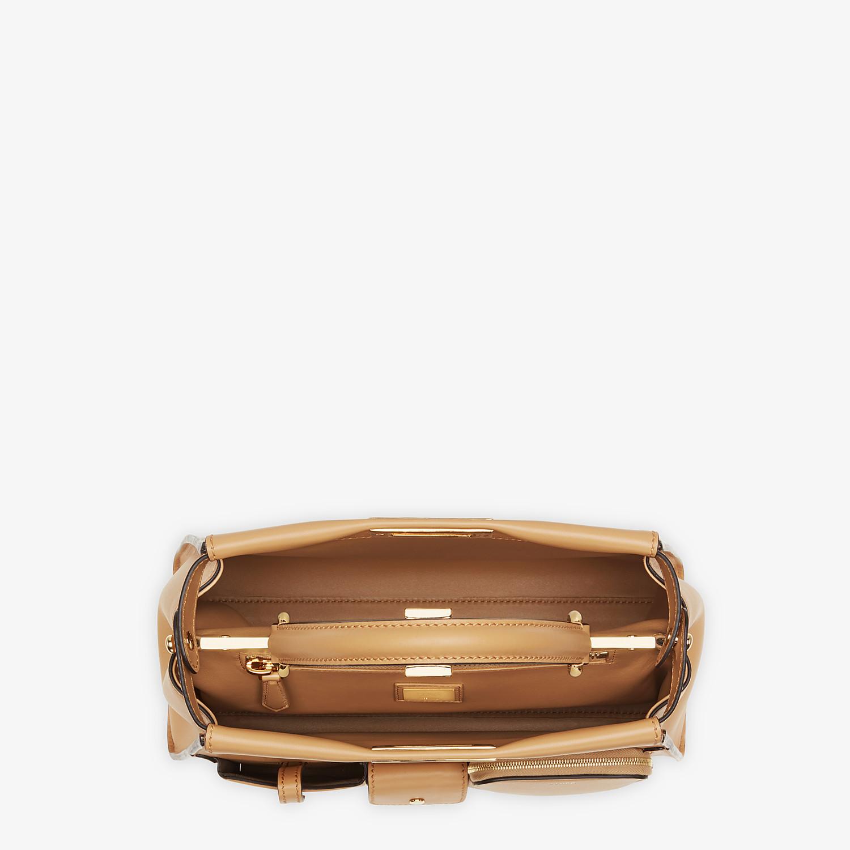 FENDI PEEKABOO ICONIC MEDIUM - Beige leather bag - view 4 detail