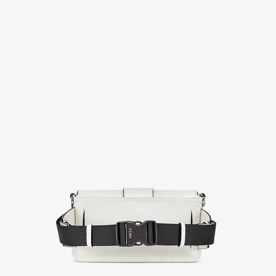 FENDI BAGUETTE - White nappa leather bag - view 3 detail