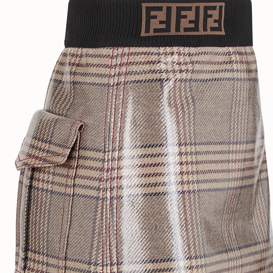 FENDI SKIRT - Prince of Wales check wool mini skirt - view 3 detail