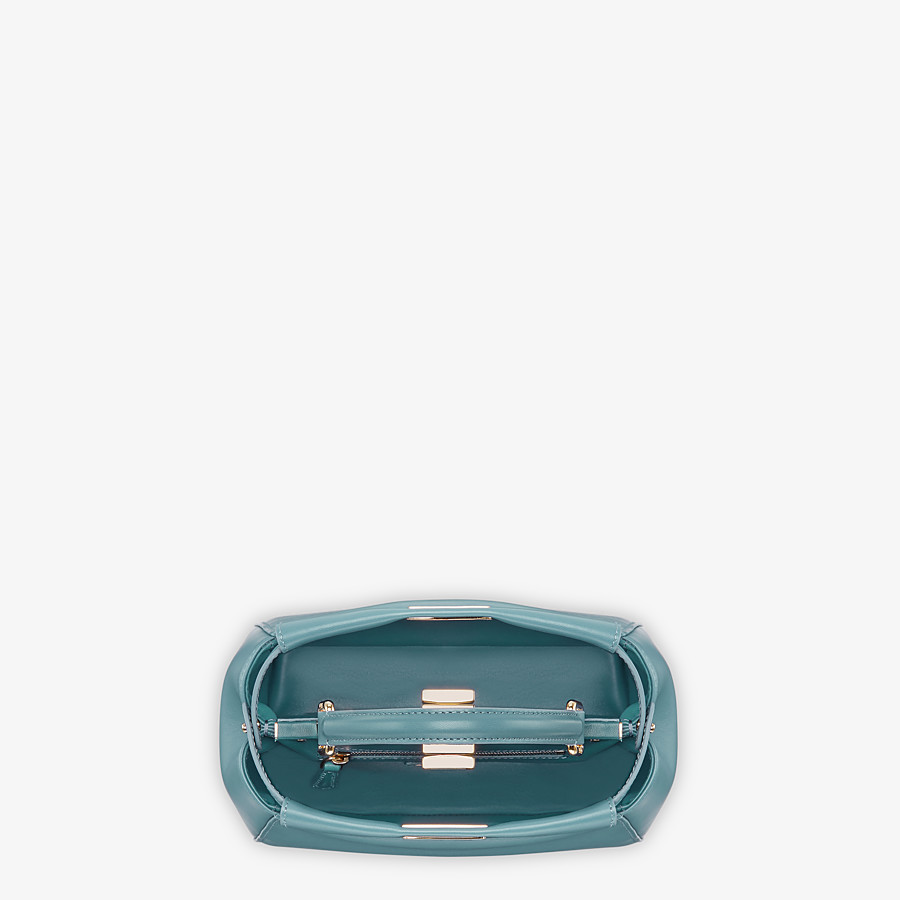 FENDI PEEKABOO ICONIC MINI - Pale blue leather bag - view 4 detail