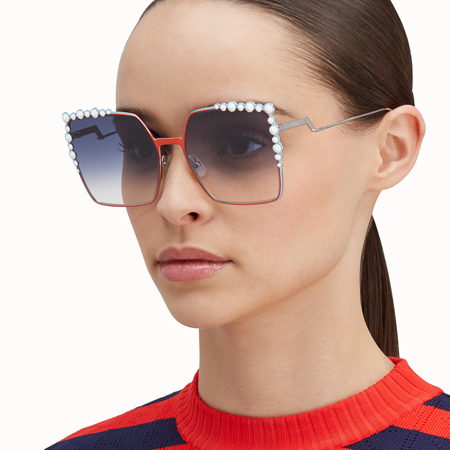 FENDI CAN EYE - Zweifarbige FS 17 Runway-Sonnenbrille - view 4 detail