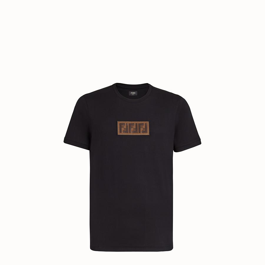 FENDI T-SHIRT - T-Shirt aus schwarzer Baumwolle - view 1 detail