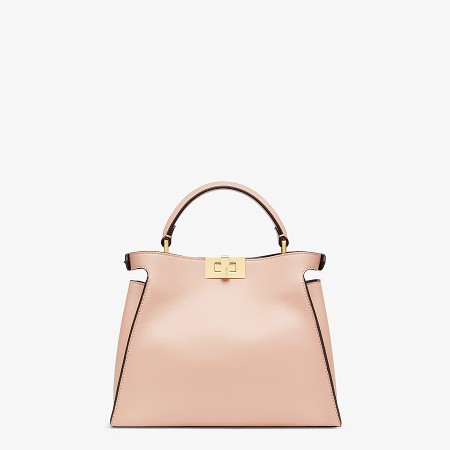 FENDI PEEKABOO ICONIC ESSENTIALLY - Tasche aus Leder in Rosa - view 4 detail