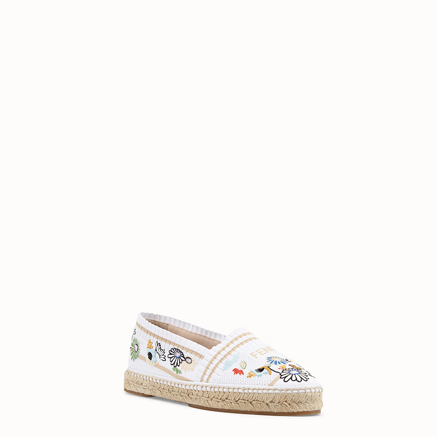 FENDI ESPADRILLES - White fabric espadrilles - view 2 detail