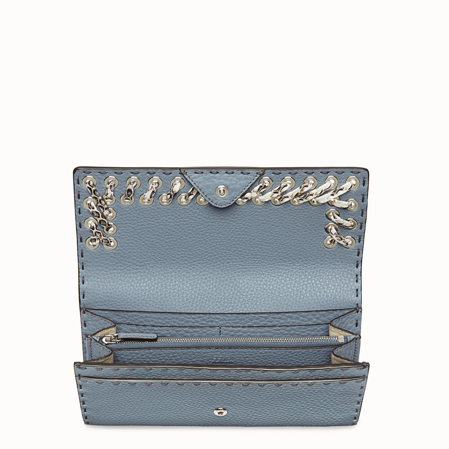 FENDI 長款皮夾 - 淺藍色和米白色Selleria長款皮夾 - view 4 detail