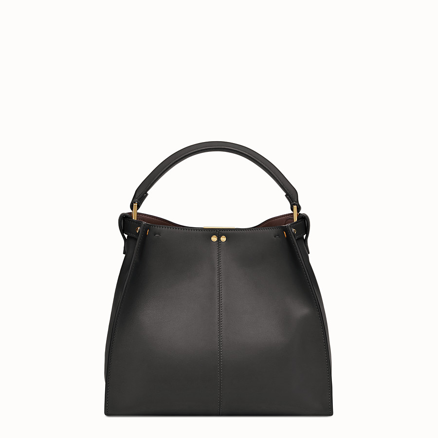FENDI PEEKABOO X-LITE MEDIUM - Black leather bag - view 5 detail
