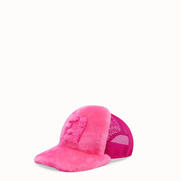 FENDI BASEBALL CAP - Fendi Prints On baseball cap in shearling - view 1 small thumbnail
