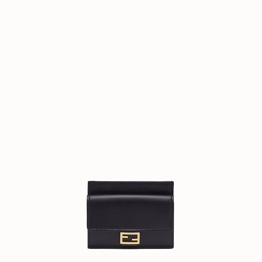 FENDI CARD HOLDER - Black nappa leather card holder - view 1 detail