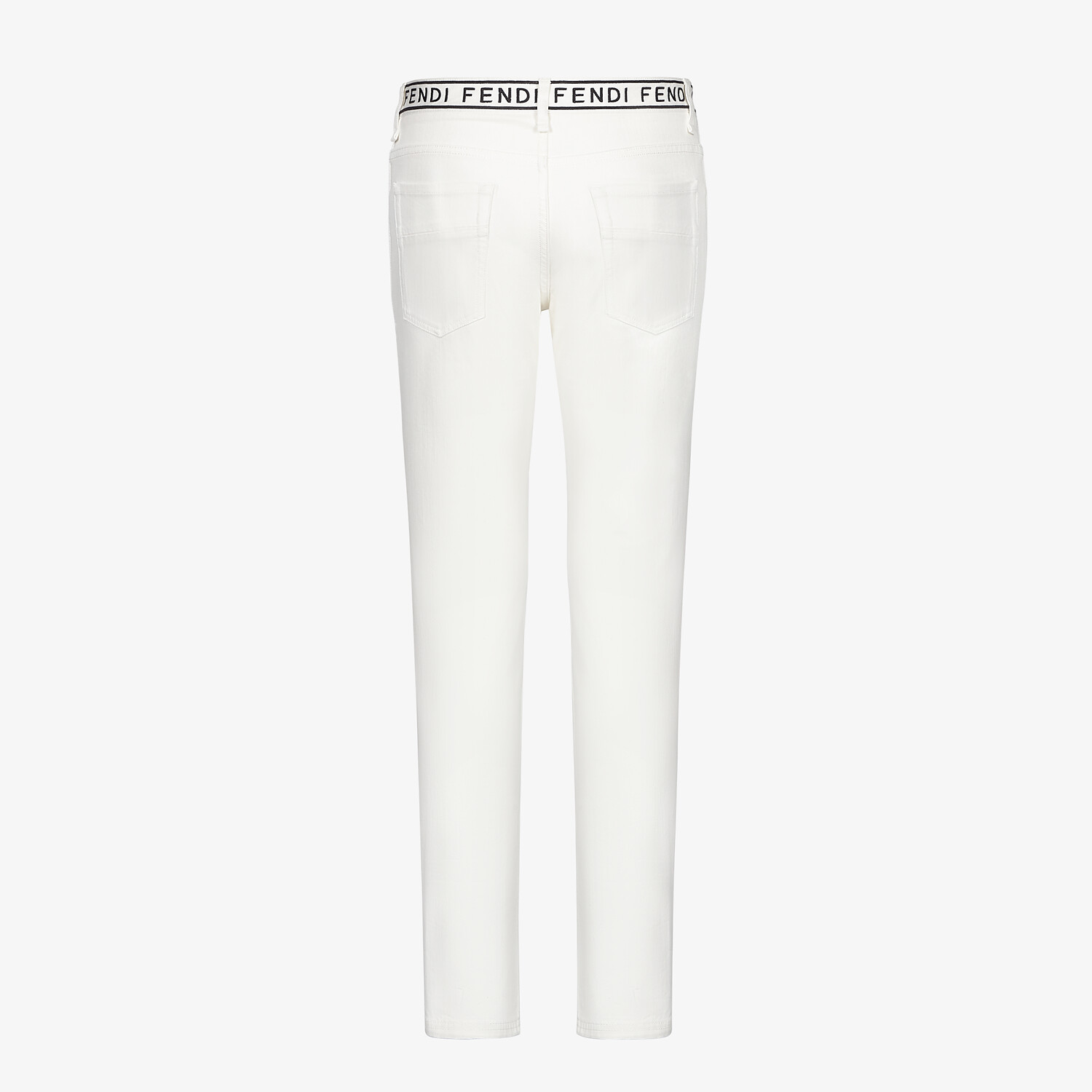 FENDI DENIM - White denim jeans - view 2 detail