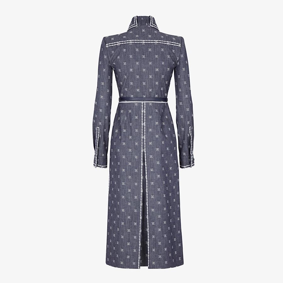 FENDI DRESS - Dress in blue drill - view 2 detail