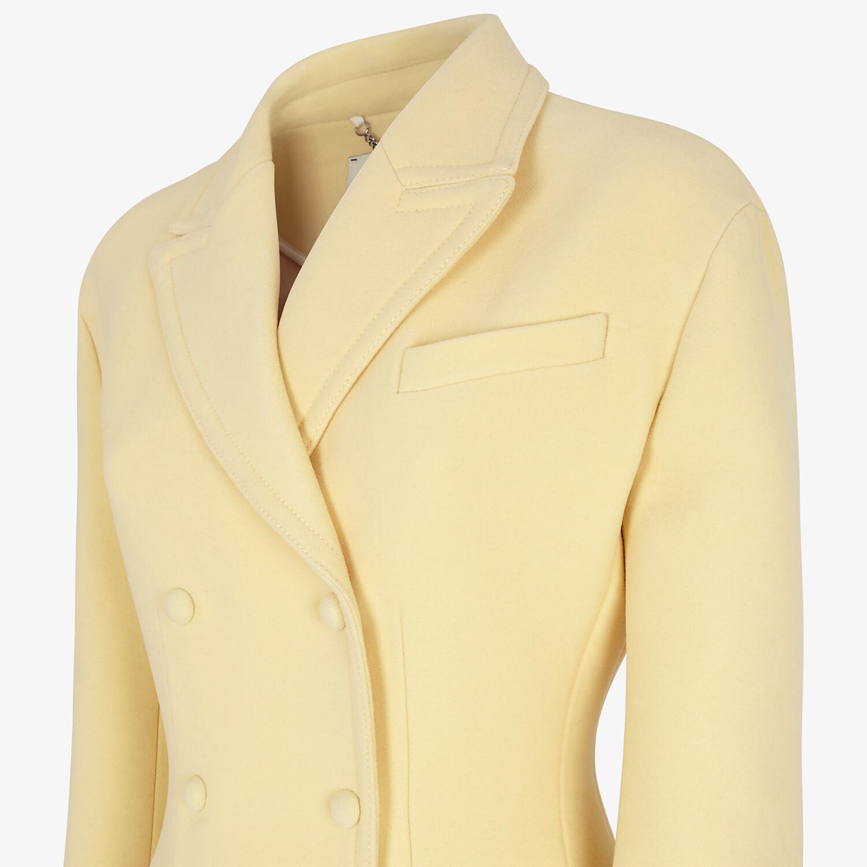 FENDI COAT - Yellow wool coat - view 3 detail