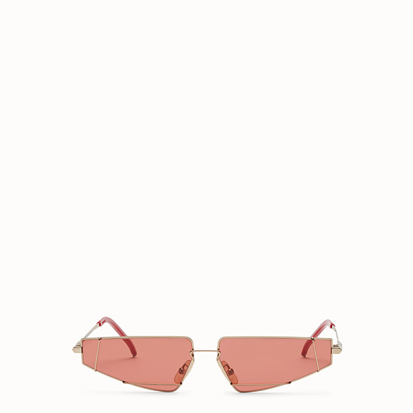 FENDI FENDIFIEND - Gold and red sunglasses - view 1 small thumbnail