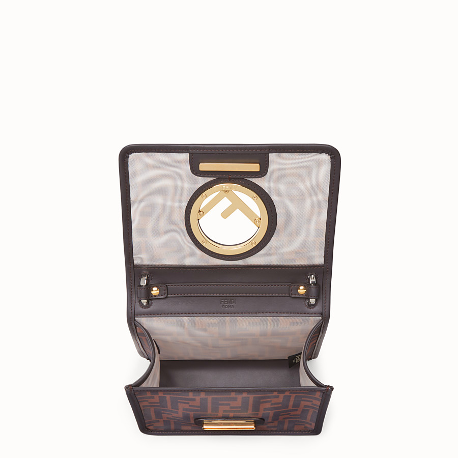 FENDI KAN I F SMALL - Brown tech mesh mini bag - view 5 detail