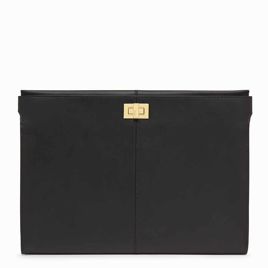 FENDI CLUTCH WALLET - Black leather clutch bag - view 1 detail