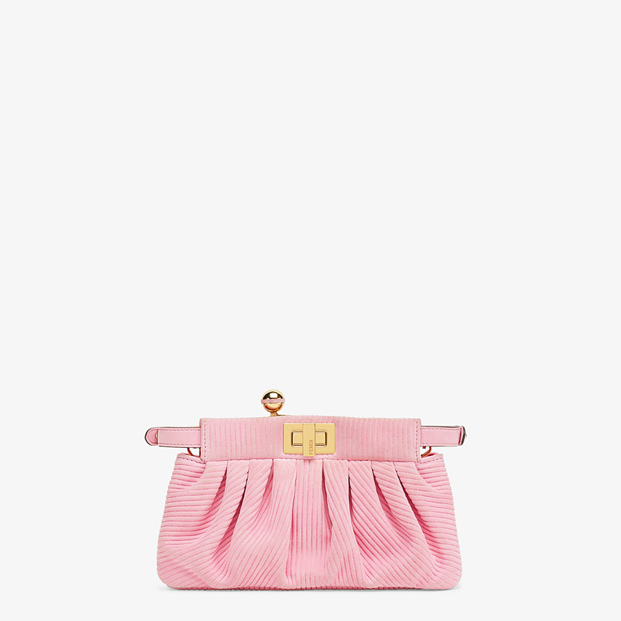 FENDI PEEKABOO CLICK - Small pink chamois bag - view 4 detail