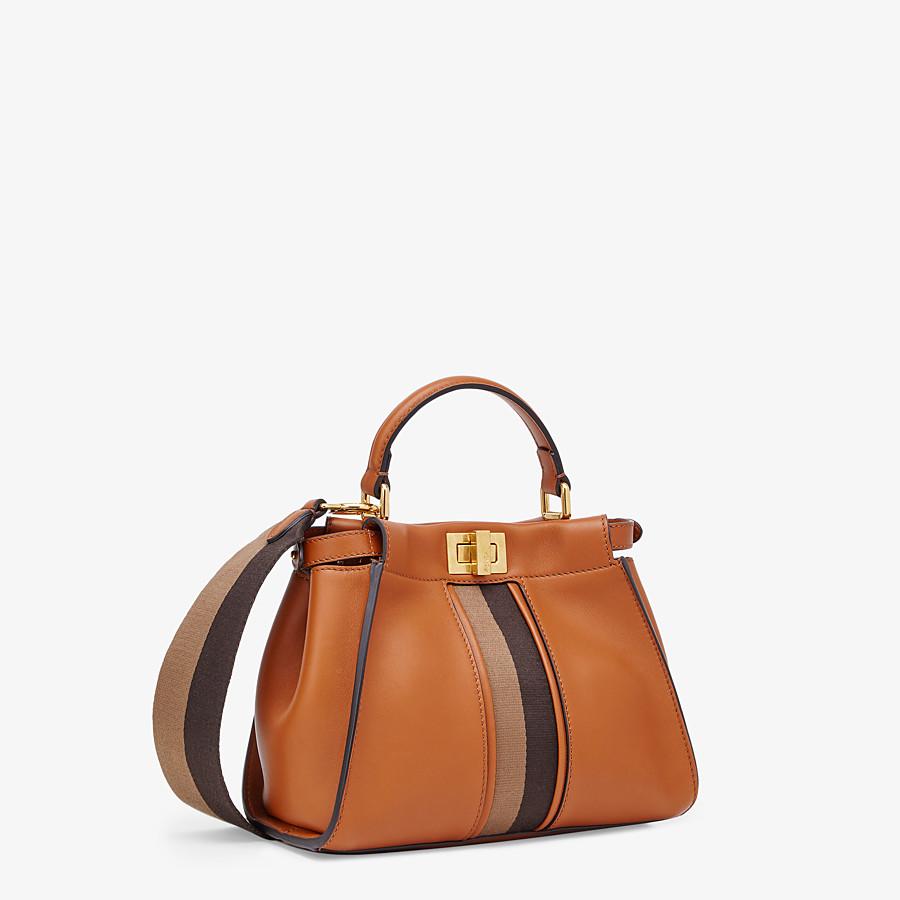FENDI PEEKABOO ICONIC MINI -  Brown leather bag - view 3 detail