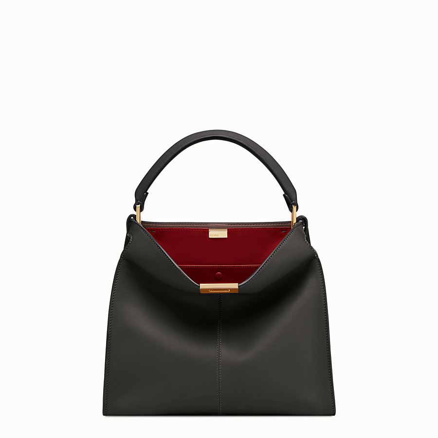 FENDI PEEKABOO X-LITE REGULAR - Black leather bag - view 2 detail