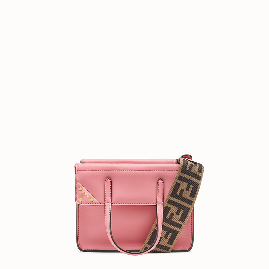 FENDI FENDI FLIP SMALL - Pink leather bag - view 1 detail