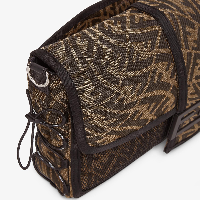 FENDI BAGUETTE LARGE - Brown FF Vertigo fabric bag - view 5 detail