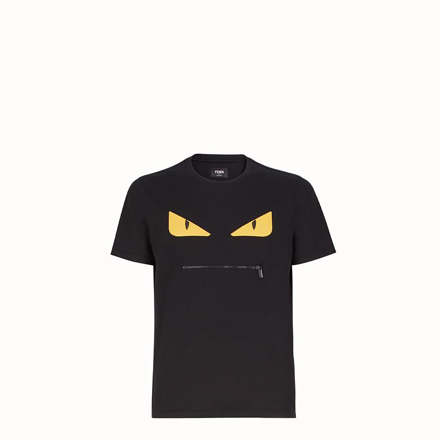 FENDI T 恤 - 黑色棉質 T 恤 - view 1 detail