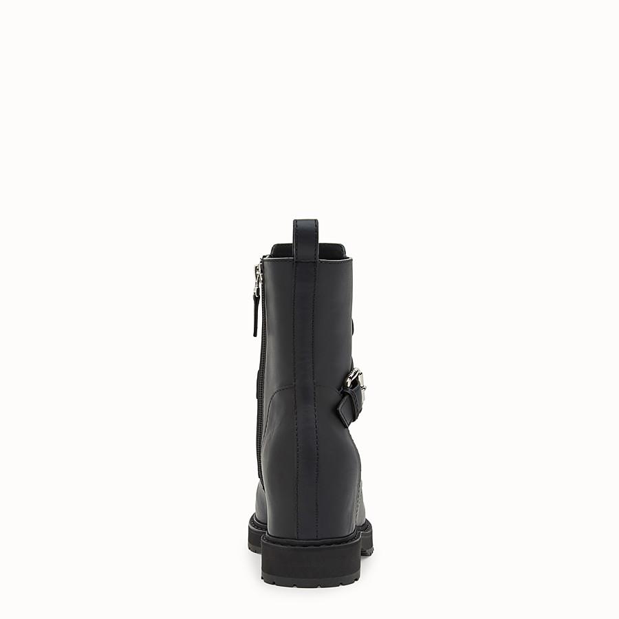 FENDI BOTTINES - Bottes de motard en cuir noir - view 3 detail