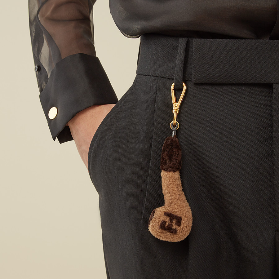 FENDI CHARM - Beige sheepskin charm - view 3 detail
