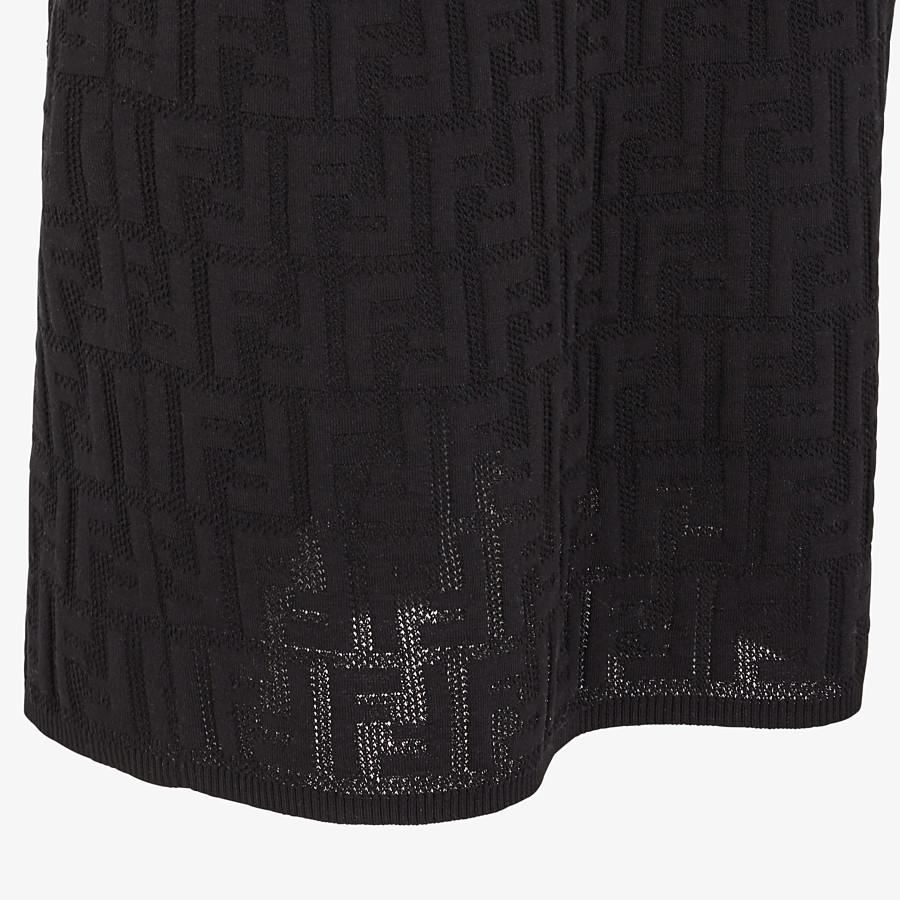FENDI SKIRT - Black cotton skirt - view 3 detail