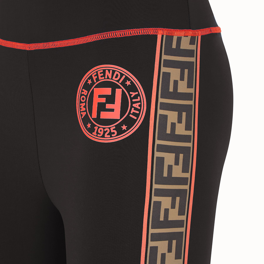 FENDI LEGGINGS - Black stretch fabric trousers - view 3 detail