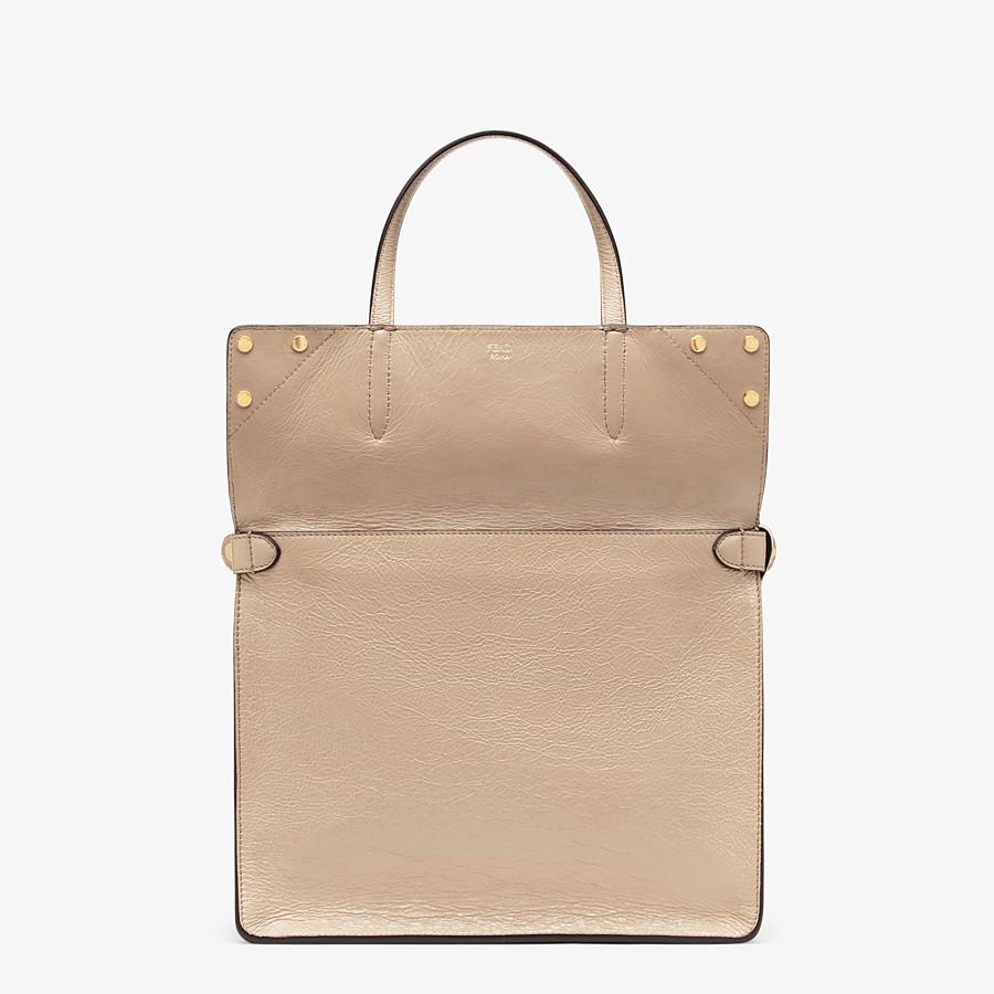 FENDI FENDI FLIP LARGE - Beige leather bag - view 3 detail