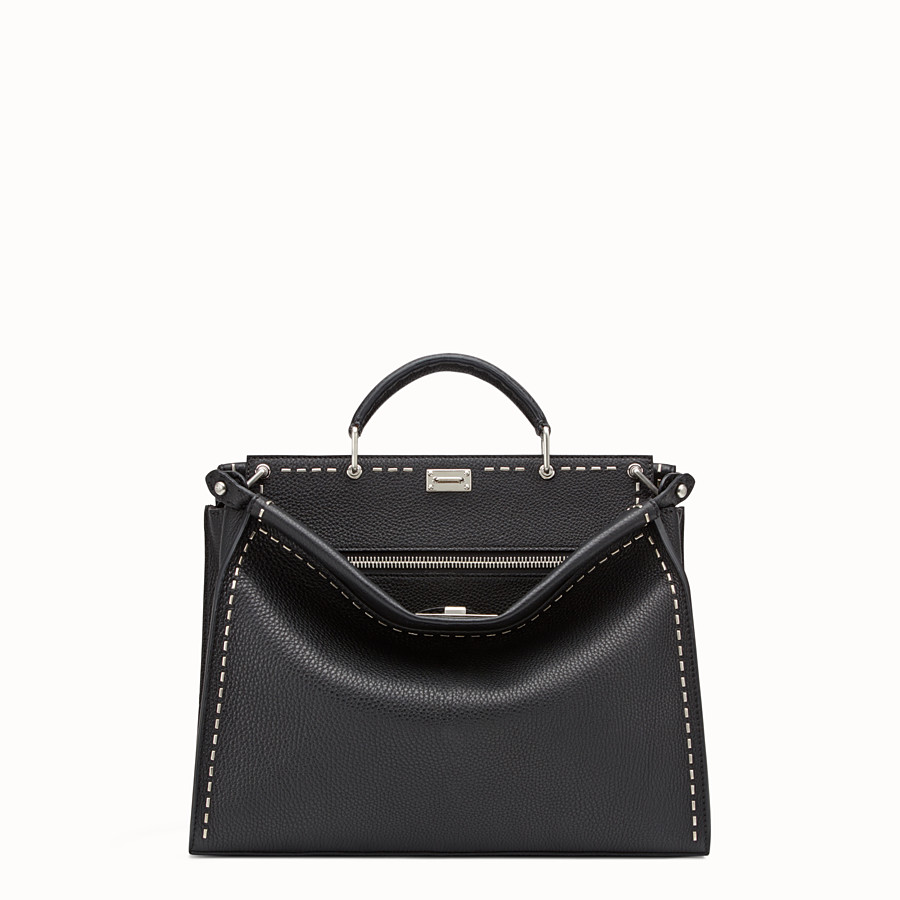 FENDI PEEKABOO FIT - Black leather Selleria bag - view 1 detail