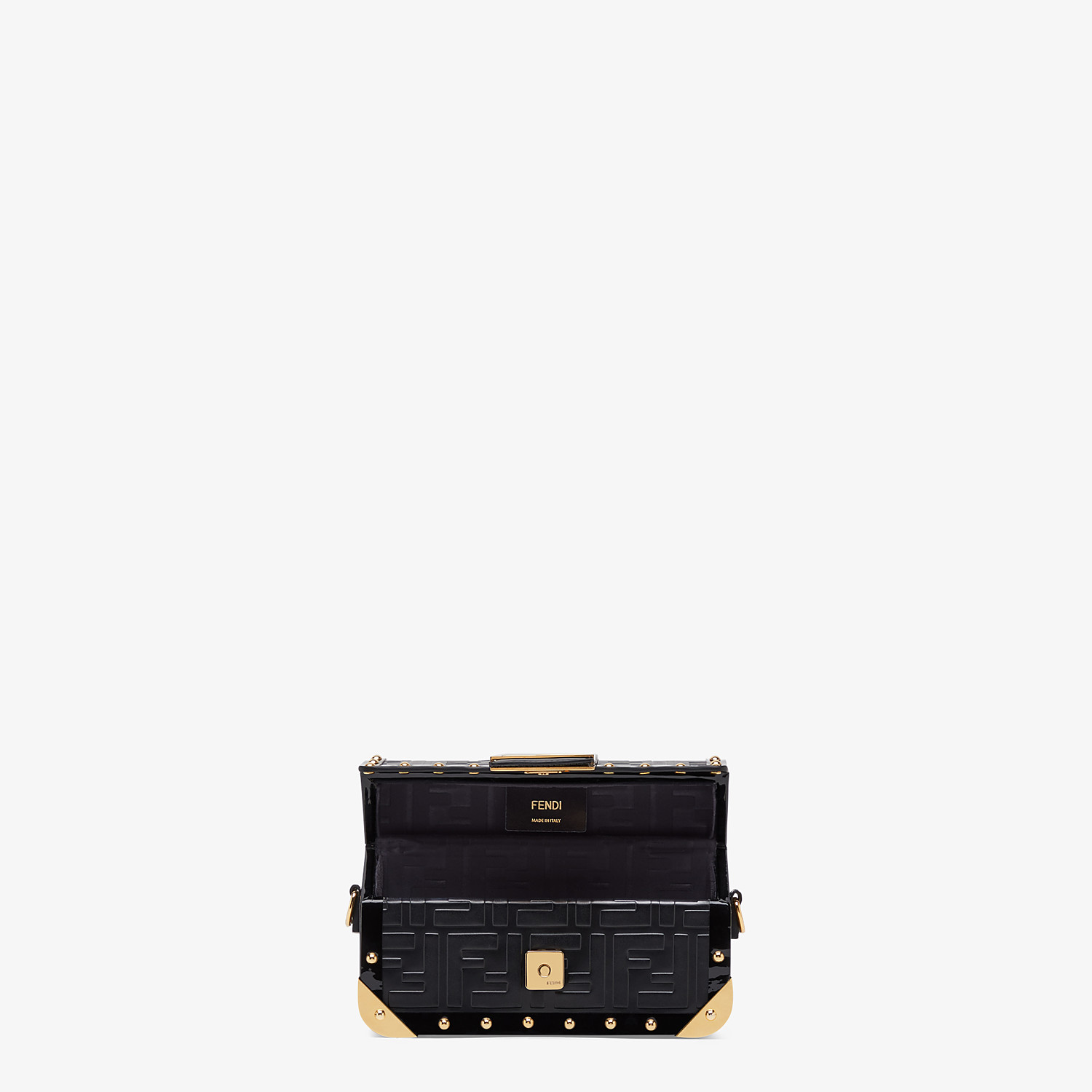 FENDI BAGUETTE TRUNK MINI - Black leather bag - view 4 detail