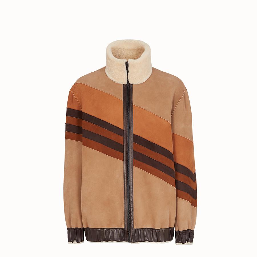 FENDI JACKET - Beige sheepskin jacket - view 4 detail