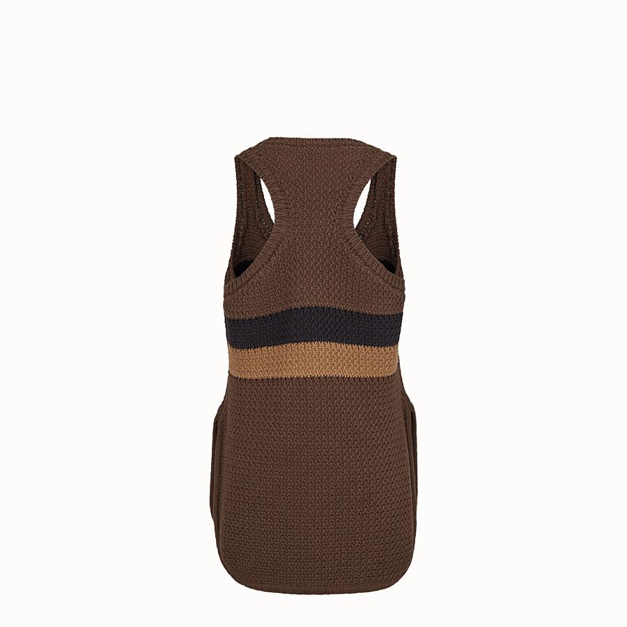 FENDI TOP - Top in cotone marrone - vista 2 dettaglio
